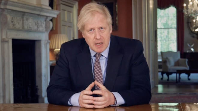 Prime Minister Boris Johnson addresses the nation on Sunday evening