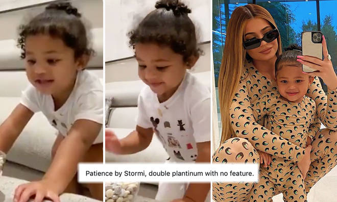 Stormi breaks the internet with adorable fruit snack challenge
