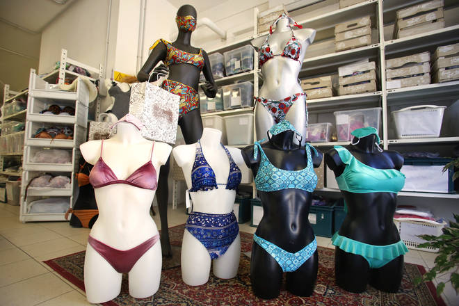 The 'trikini' has been made available in the Italian boutique after it went viral on social media