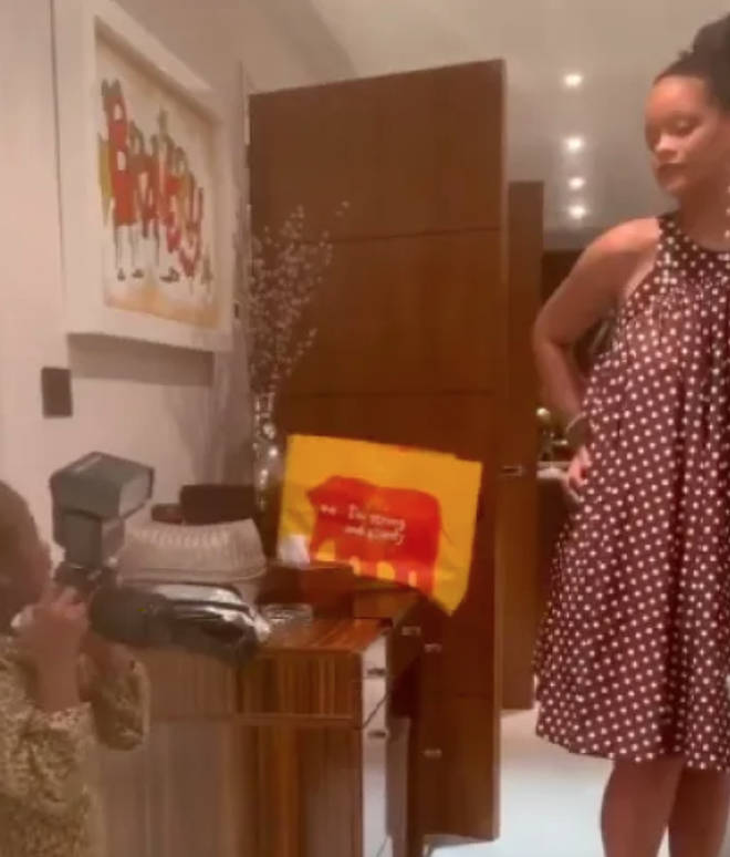 Rihanna confirmed her UK residential status when this Sainsbury's bag was spotted in one of her videos