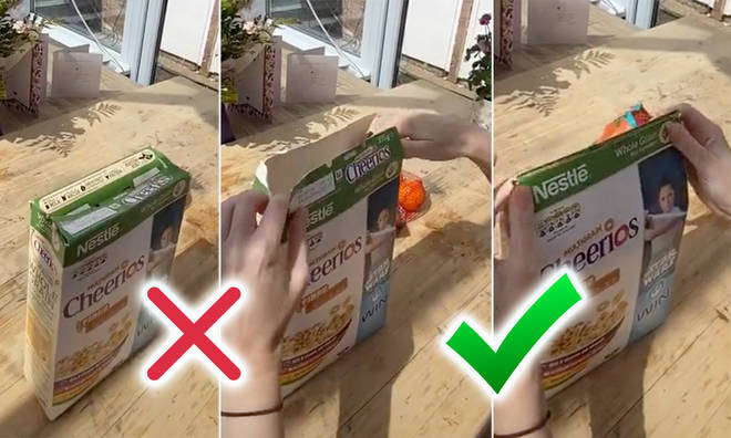 Everyone has been raving about the cereal box folding hack