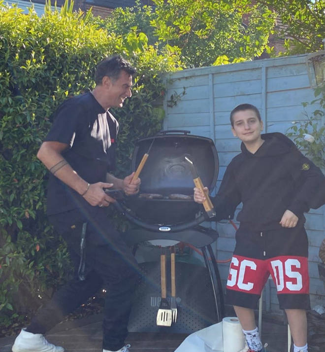 Dua Lipa's family celebrated with a BBQ in the garden