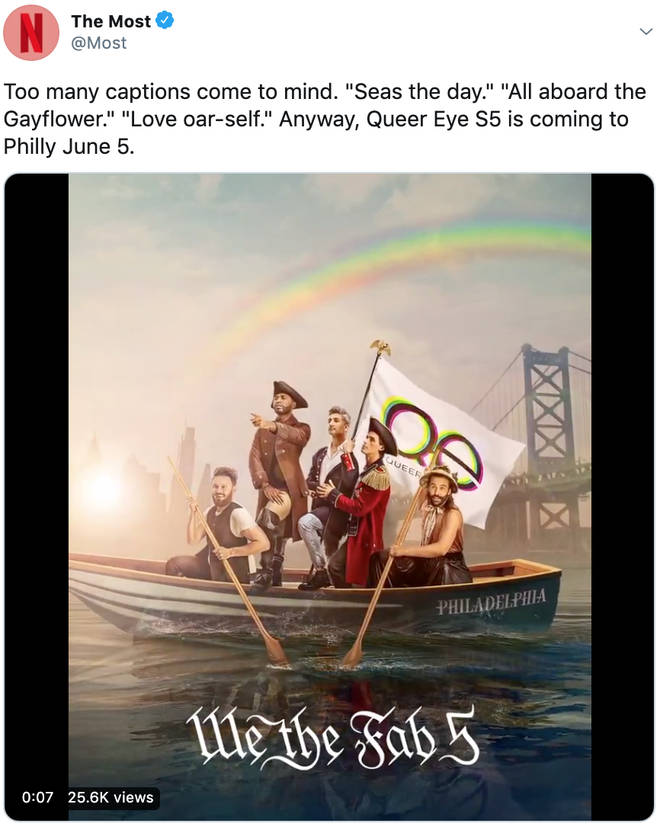 Queer Eye returns on 5 June