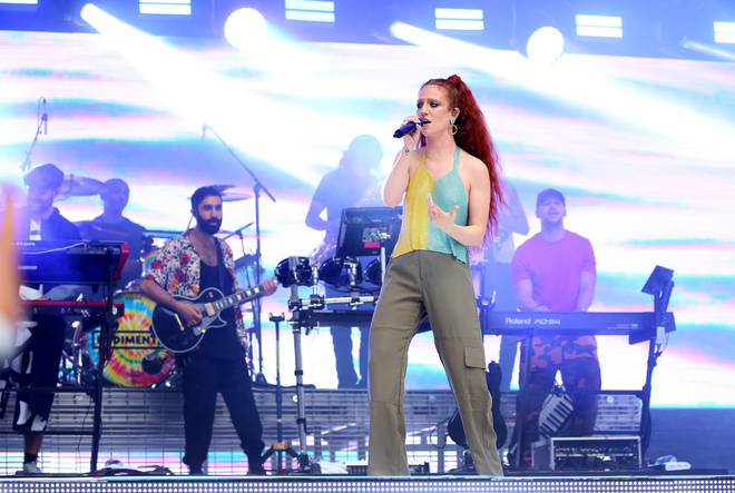 Jess Glynne performed 'Don't Be So Hard On Yourself' as part of her huge performance