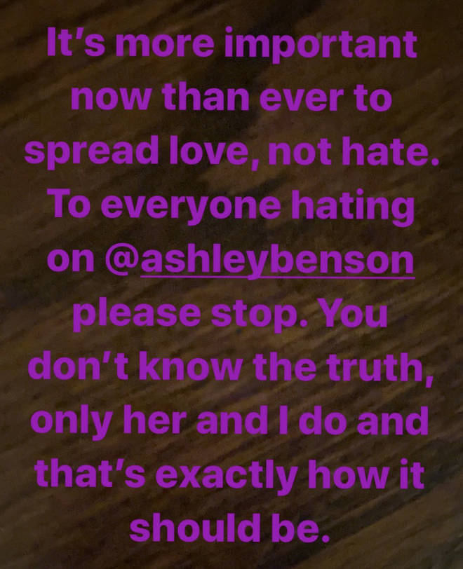 Cara Delevingne wrote about Ashley Benson on her Instagram Story