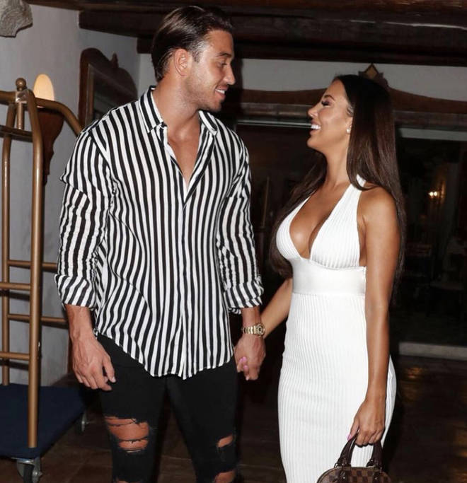 Yazmin Oukhellou and James Lock are all loved up for the new series of TOWIE