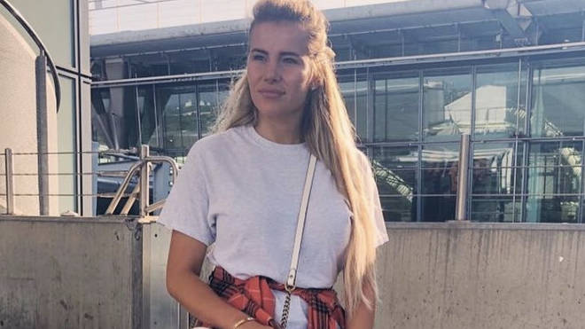 TOWIE's Georgia Kousoulou atthe airport before filming in Sardinia