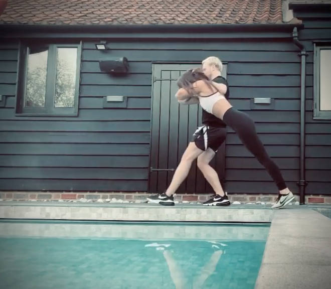Olly Murs' video dunking his girlfriend in the pool went viral