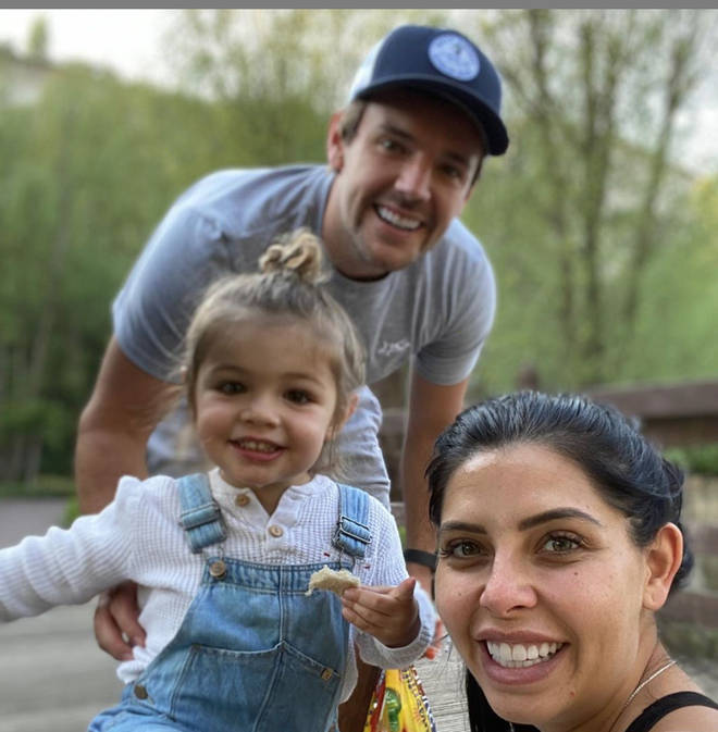 Cara De La Hoyde and Nathan Massey have a son and a daughter