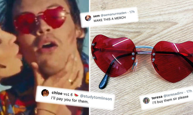 Harry Styles's 'Watermelon Sugar' sunglasses are causing a stir on Twitter