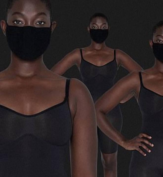 Kim Kardashian under fire for selling black face masks as 'nude'