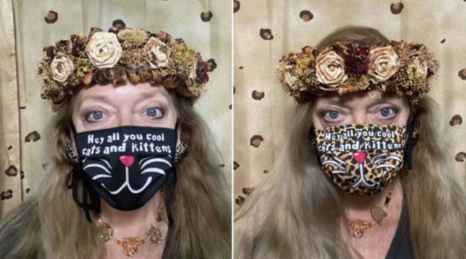 Carole Baskin has used her famous catchphrase on her face coverings