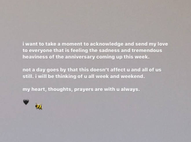 Ariana assured fans she'll be thinking of them on the third anniversary of the terror attack.