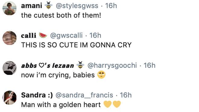Harry Styles' fans praised him for having a 'golden heart'