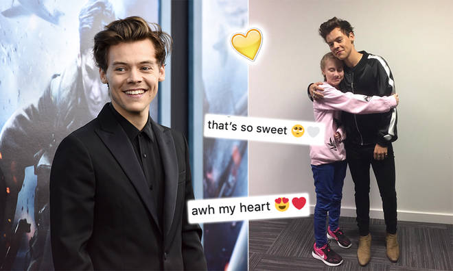 Harry Styles met Freya Lewis while promoting his first solo record