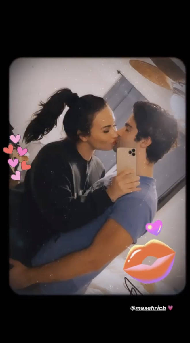 Demi Lovato showed off her new man Max Ehrich on Instagram