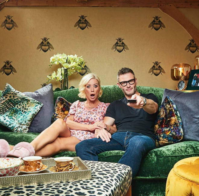 Denise Van Outen and partner Eddie are on the new series of Celebrity Gogglebox 2020