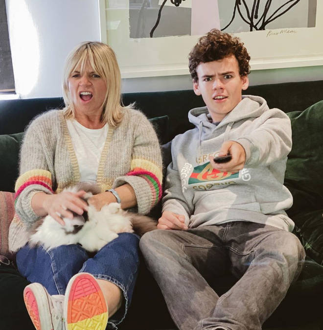 Zoe Ball and son Woody Cook are taking part in Celebrity Gogglebox 2020