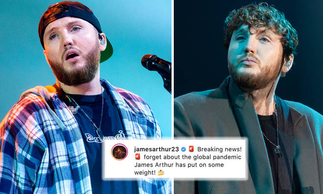 James Arthur calls out headline claiming he's gained weight in lockdown