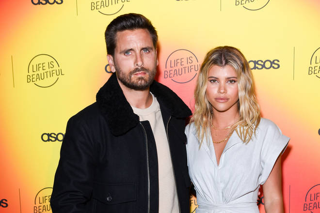 Scott Disick and Sofia Richie on the red carpet in 2019
