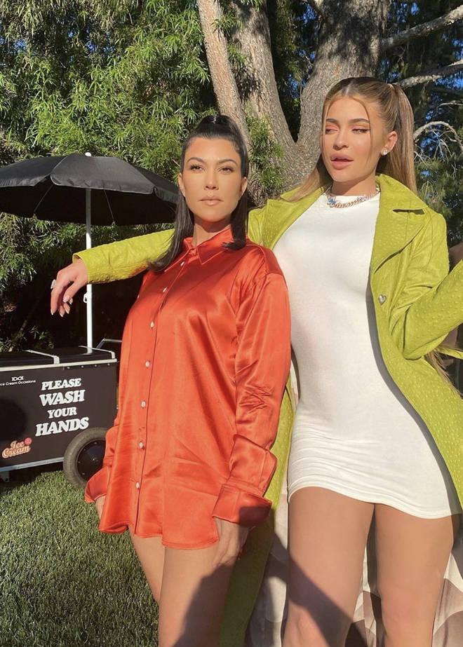 Kylie Jenner shard a picture with her arm around Kourtney Kardashian