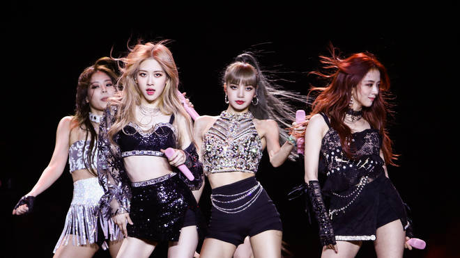 BLACKPINK on stage at the 2019 Coachella Valley Music And Arts Festival