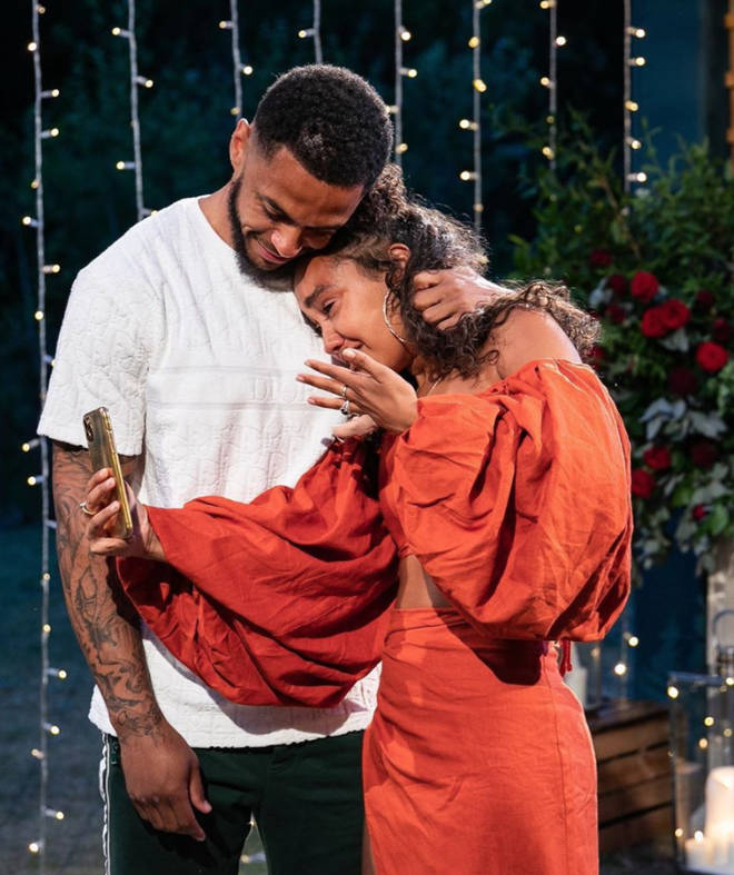 Leigh-Anne Pinnock was left emotional by Andre's romantic proposal