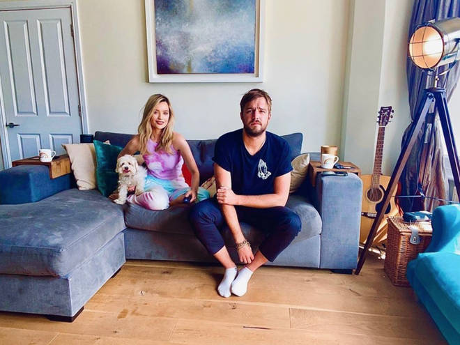 Laura Whitmore and boyfriend Iain Stirling are on Celebrity Gogglebox 2020