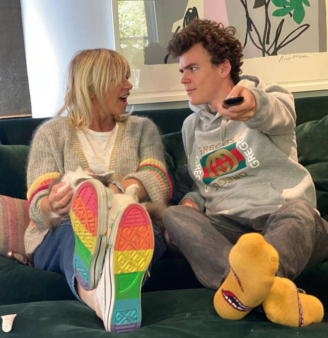 Woody Cook and his mum Zoe Ball are taking part in Celebrity Gogglebox 2020