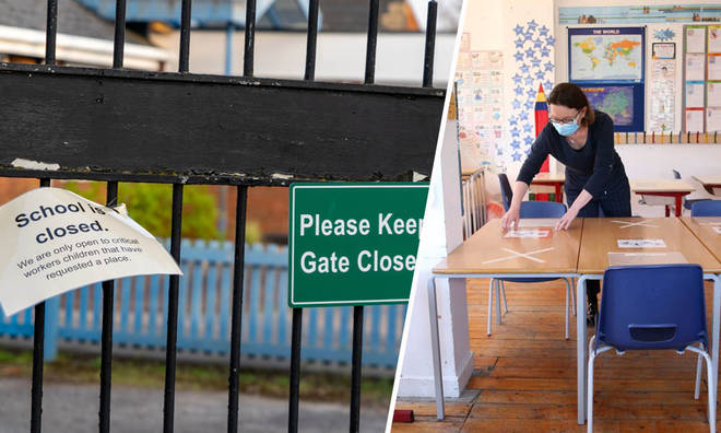 Schools in the UK begin a phased reopening on 1 June