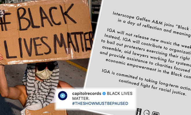Record labels to 'Black Out' in solidarity with Black Lives Matter