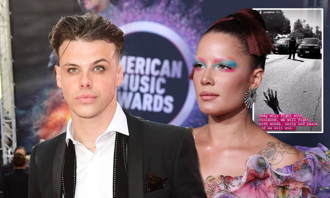 Halsey and Yungblud have been protesting together in LA