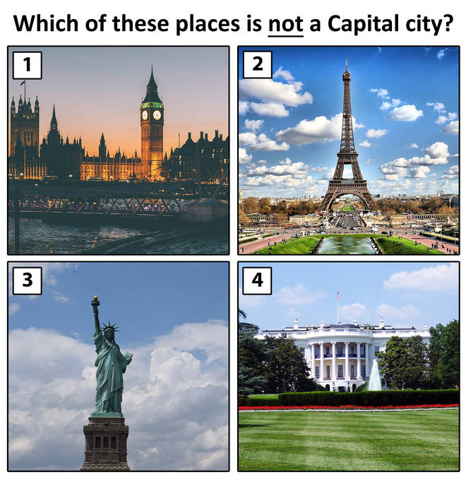 Which of these places is not a caital city?