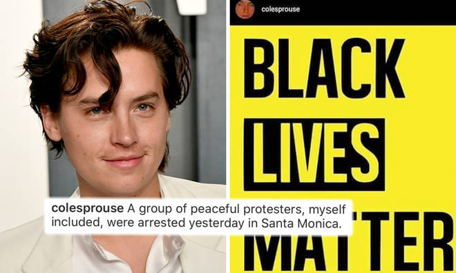 Cole Sprouse arrested for protesting for Black Lives Matter