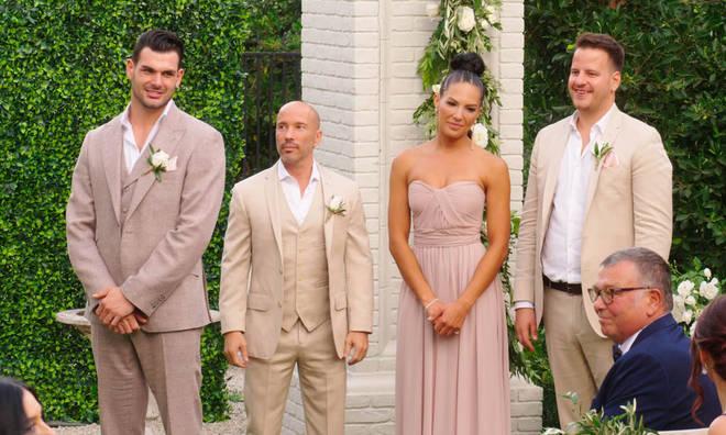 Amanza was bridesmaid at Mary Fitzgerald's wedding