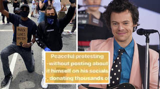 Harry Styles protests for Black Lives Matter in LA