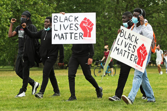 BLM protests took place on June 3 in Hyde Park, London