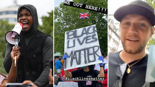 John Boyega and many other celebs protested in the UK
