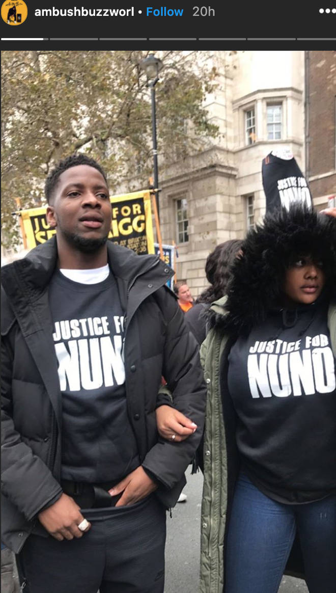 Rapper Ambush called for Justice for Nuno at the UK BLM protests