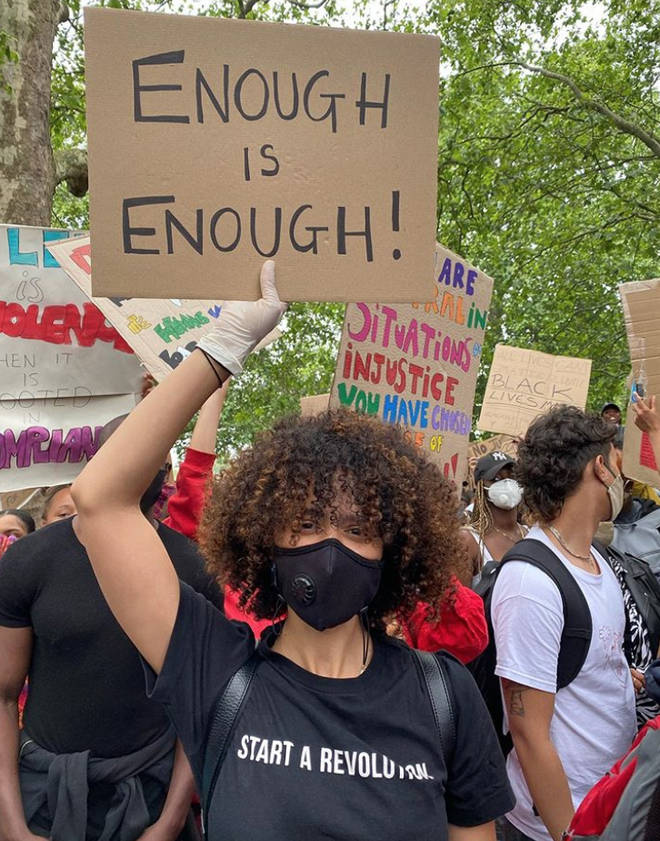 Nathalie Emmanuel said she 'cried grown woman tears' at the rally