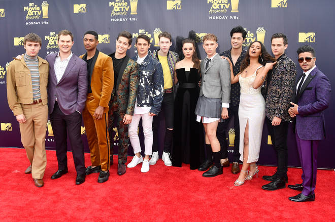 The cast of '13 Reasons Why' at the 2018 MTV Movie And TV Awards - Arrivals