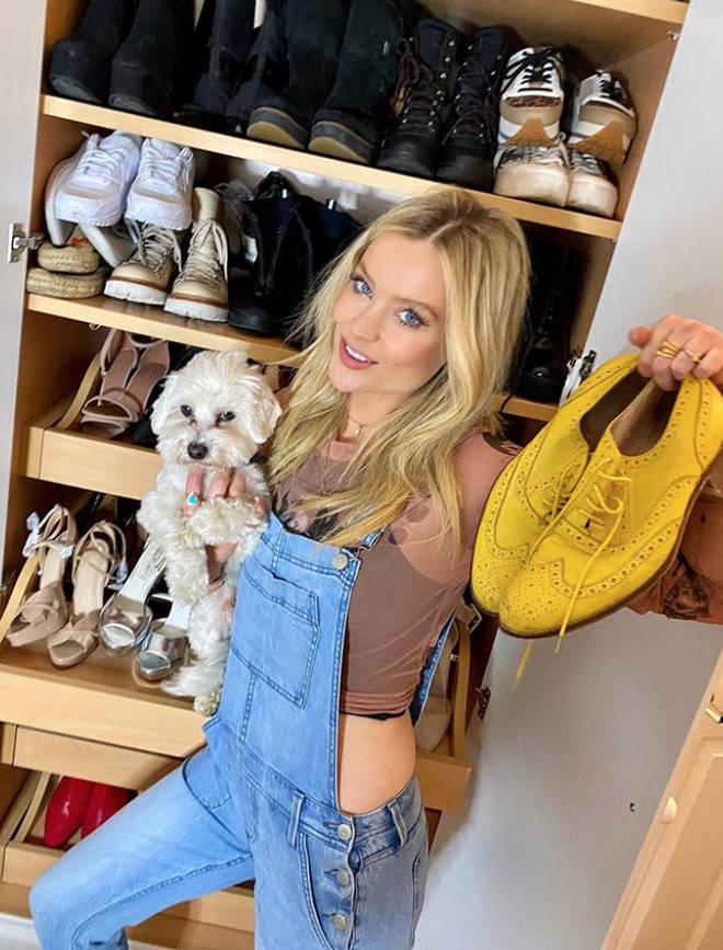 Laura Whitmore showed off her shoe closet on Instagram during a clear-out