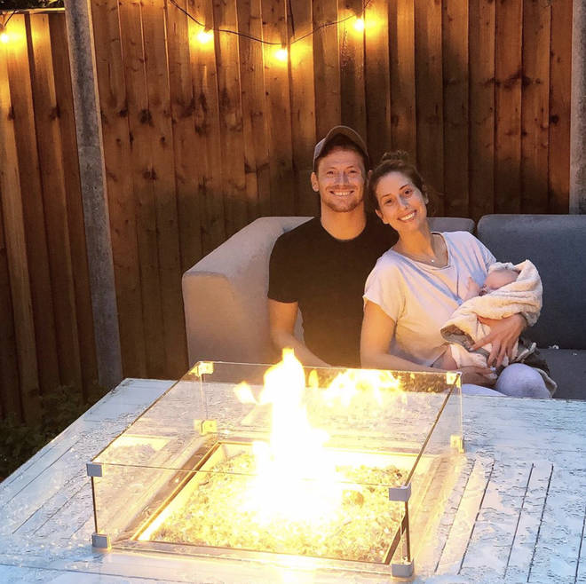 Joe Swash and Stacey Solomon have a gorgeous fire pit