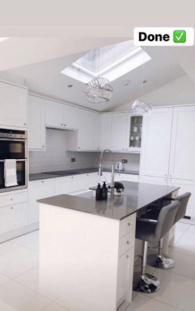 Their new kitchen boasts beautiful decor