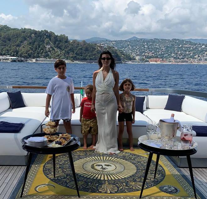 Kourtney Kardashian often posts snaps with her three adorable kids on Instagram.