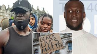 Stormzy joins London's Black Lives Matter protests