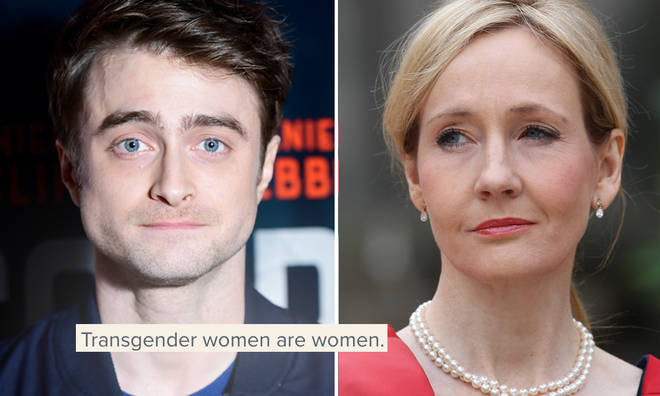 Daniel Radcliffe has spoken out against JK Rowling's comments.