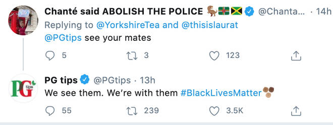 PG tips is also letting people know their stance against racism