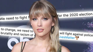 Taylor Swift is urging her followers to vote