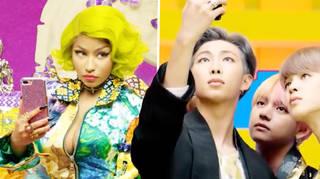 Nicki Minaj and BTS in 'IDOL' music video